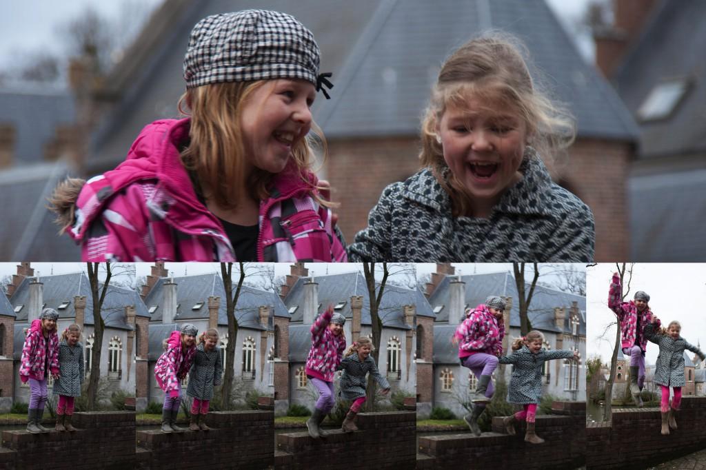 foto: springen van een muurtje voor spontaniteit