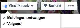 facebook meldingen